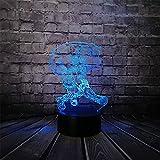 Suuyar Cartoon Broom Witcher Succuba Magician Master Mage Lampada 3D Usb Multicolor Night Light Led Rgb Lampada Di Illuminazione Lampada Giocattolo Per Bambini