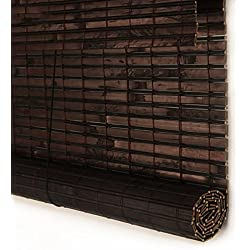 Persiana de Bambú a medida color marrón chocolate