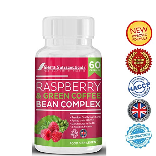 #1 Raspberry Fruit Extract and Green Coffee Bean Complex Combo Plus Glucomannan for Weight Loss.A Powerful Combination That Helps Breaks Down Belly Fat for Men & Women. Made in The