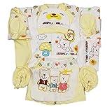 18-teilige Grundausstattung für Neugeborene (0-6 Monate) von Jinyouju, als Geschenk geeignet, Material: Baumwolle Gr. 56, gelb