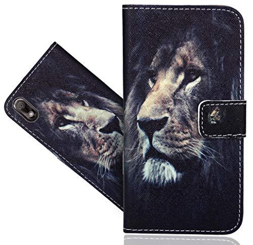 Wiko View 2 Go Handy Tasche, FoneExpert® Wallet Case Flip Cover Hüllen Etui Hülle Ledertasche Lederhülle Schutzhülle Für Wiko View 2 Go