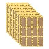Cuigu 120 pièces Étiquette Kraft Vierge Autocollant d'étanchéité à la Main pour l'emballage Cadeau DIY