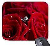 Rote Rosen und Diamanten Mauspad 9,84 x 11,8 Zoll