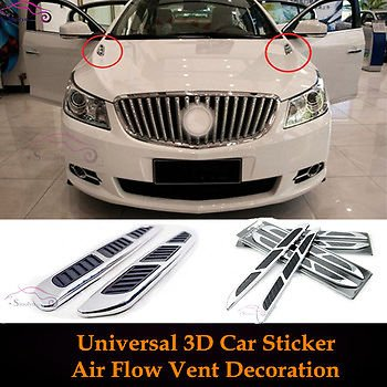 2PCS Car Styling Accessories Universal DIY Car Air Flow Vent...