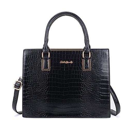 Crocodile-skin-Large-Tote-Bag-Glossy-Fashionable-Women-Handbag-Sally-Young-Designer