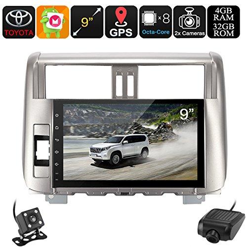2 DIN Car Stereo Land Cruiser Prado Car DVR Rear View Camera GPS Android 6.0