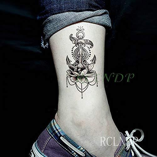 ljmljm 5pcs Impermeable Etiqueta engomada del Tatuaje en el Cuerpo del cordón del Arma de la Pistola Tatto Etiquetas engomadas de Tatoo Tatuajes del Arte para 10x6cm Mujeres de la Muchacha Mena Rojo