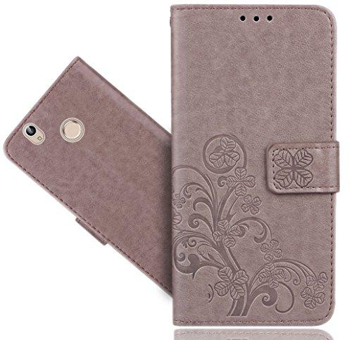 FoneExpert® Oukitel U7 Plus Handy Tasche, Wallet Case Cover Flower Hüllen Etui Hülle Ledertasche Lederhülle Schutzhülle Für Oukitel U7 Plus