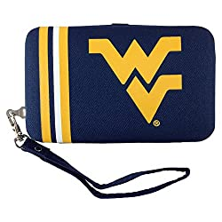NCAA West Virginia Mountaineers Shell Wristlet, 3.5 x 0.5 x 6-Inch, Blue