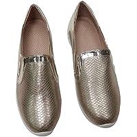 Hengfeng Pelle delle donne Flatform moda comode scarpe da tennis casuali 6069-10