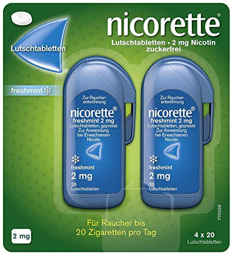 Nicorette freshmint 2 mg Lutschtabletten gepresst 80 stk