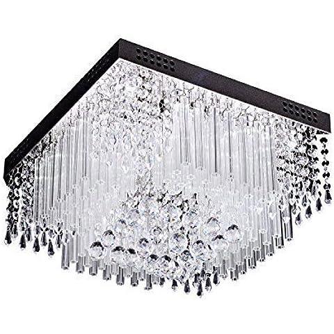 luz de techo de cristal de lujo conducido vida moderna 16 luces