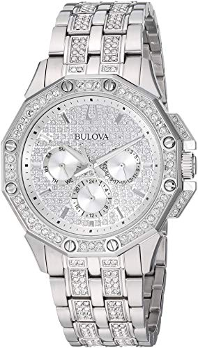 Bulova Men's Quartz Stainless Steel Dress Watch, Color:Silver-Toned (Model: 96C134)
