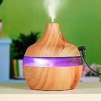 300ml Humidificador Aromaterapia Ultrasónico de STRIR, Difusor de Aceites Esenciales, 7-Color LED,Seguro y Elegante, purificar el aire y mejorara el aire seco