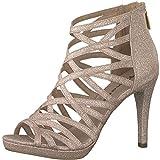 Tamaris 1-1-28014-22 Damen Sandaletten,Sandaletten,Sommerschuhe,offene Absatzschuhe,hoher Absatz,feminin,Rose Glam,36 EU
