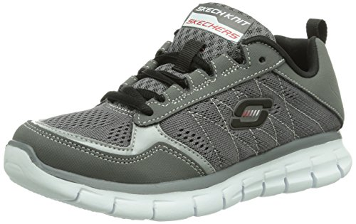 Skechers Synergy Power Switch, Sneaker Bambino, Grigio (Grau (CCBK)), 32 (13 uk)