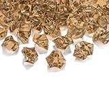 50 Kristall-Steine Gold 25 mm - Eis Deko Streudeko Diamanten Tischdeko