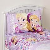 Frozen Bedding Set Twin for Girls 3 Piece Bed Sheet Set Anna Elsa by Disney