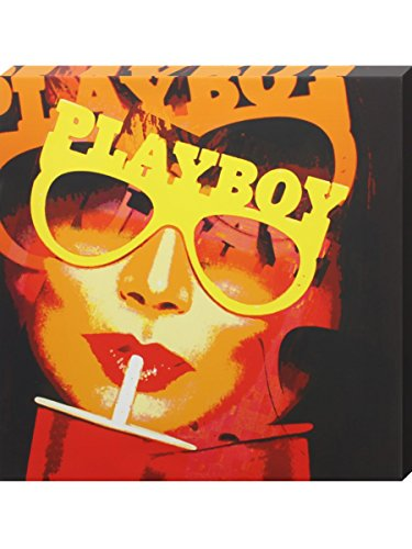 Hugh Heffner'Werbung Vintage Playboy Druck auf Leinwand, 40 x 40 cm -