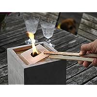 Nachfüllwachs für Betonfeuer der Beske-Manufaktur | Wachs in praktische Wachsplatten gegossen zum Wiederbefüllen von Betonfeuer | Für die Größen 13x13x13, 25x13x13
