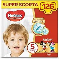 Huggies Pannolini Ultra Comfort, Taglia 5 (11-25 Kg), Confezione da 126 Pannolini