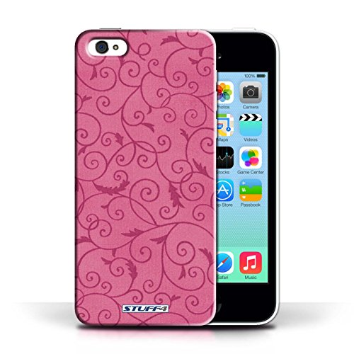 Kobalt® Imprimé Etui / Coque pour Apple iPhone 5C / Vert conception / Série Motif de la vigne Rose