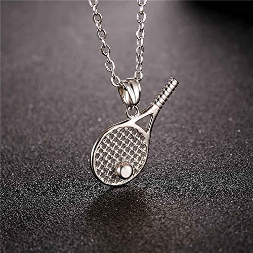 Halskette Edelstahl Tennisschläger Anhänger Für Männer/Frauen Geschenk Gold Farbe Kpop Sport Fitness Schmuck Halsketten P1014 -