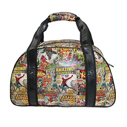 BB Designs Unisex Marvel Comic Retro Print Gym Bag, Multi-color
