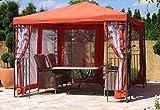 Grasekamp 4 Seitenteile zu Blätter Pavillon 3x3m Terra