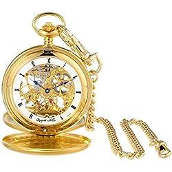 Regent Hills Gold-Plated Mechanical Pocket Watch 67528GP-W2