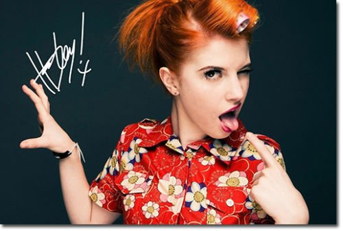 Hayley Williams - Paramore Signiert Autogramme 21cm x 29.7cm Plakat Foto (Red Williams Hayley)