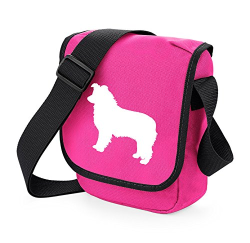 Bag Pixie - Borsa a tracolla unisex adulti White Dog Pink Bag