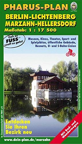 Pharus-Stadtplan Berlin-Lichtenberg / Marzahn-Hellersdorf: 1:17.500 (incl. Hohenschönhausen, Falkenberg, Wartenberg, Lichtenberg, Rummelsburg, Marzahn, Hellersdorf, Kaulsdorf, Dahlwitz-Hoppegarten)