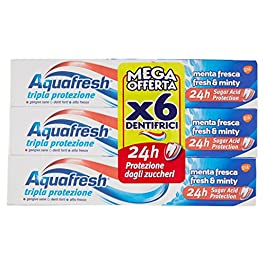 Aquafresh Dentifricio Menta Fresca Esapacco 6X75Ml – 450 Ml