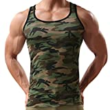 Andy's Share Herren Mann Vest Tops Tank Trainingswest Camouflage Military Sport Outdoor (EU L / Asian XL)