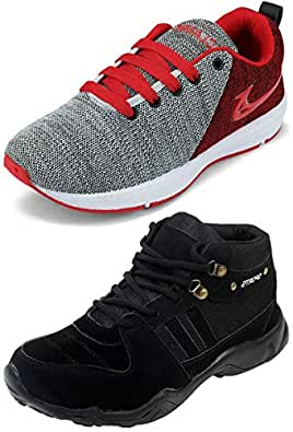 Ethics Best Red Air Breathing Running Sports Shoes & Trekking Black Running Sports Shoes for Men (10)