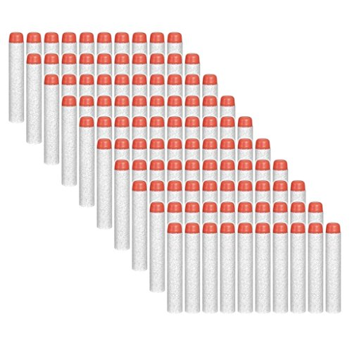 Preisvergleich Produktbild HONGCI 7,2cm EVA Darts Pfeile für alle Nerf Gun N-Strike Elite Blaster, Nerf Zubehör (100er - Weiß)