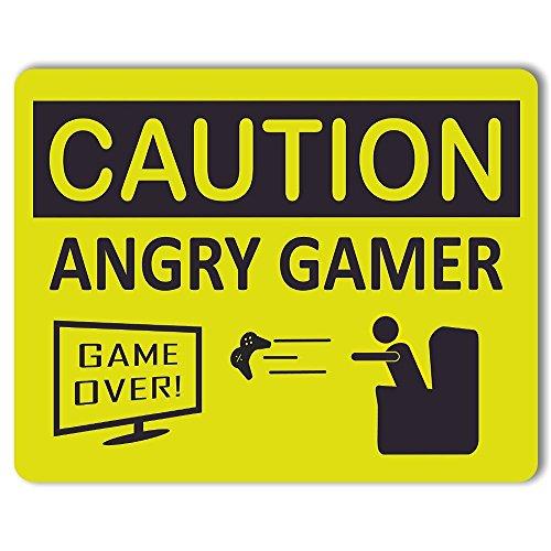 Caution angry gamer–Metall Tür oder Wand (Ideen Nerd Halloween Für)