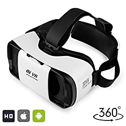 3D VR Headset, EV Virtual Reality Glasses 3D Movie Game Box, for iPhone & Android, Apple, Samsung, HTC, LG, Compatible with 4. 7-5. 7 inch Smartphones