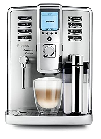 Saeco HD9712/01 Incanto Executive Kaffeevollautomat, integrierte Milchkaraffe, silber