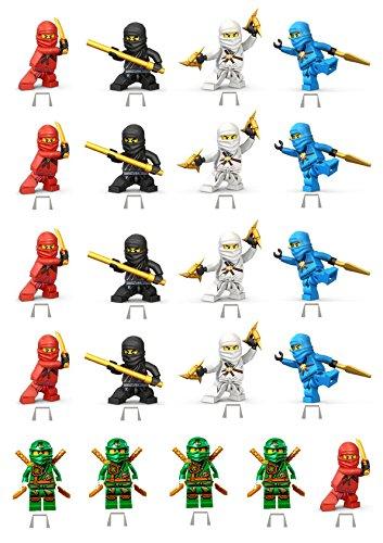 Ninjago 1Set Kuchen Party steht auf, essbares Wafer Karte DIY X21Stücke