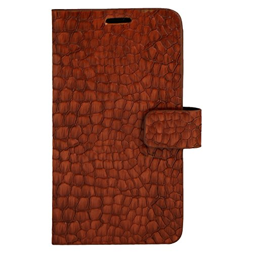 Zocardo Faux Leather Universal Diary Flip Cover Case with Inner Pocket for Panasonic P81 - Brown