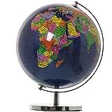 DonRegaloWeb–Globus Weltkugel Welt–Dunkelblau und Ländern mit Farben 25cm