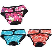 UEETEK Pañales para Perro Sanitarios Fisiológicas Bragas Lavable Pantalones de pañales para Perro Mascotas - 3