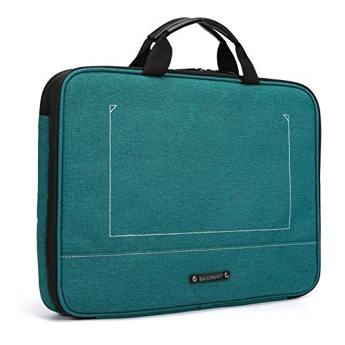 BAGSMART Laptop Aktentasche mit Elektronik Zubehör Organizer, Notebooktasche für 14 Zoll Laptop, 12.9 Zoll Tablet Kabel Ladegerät Netzteil Maus Powerbank, Grün