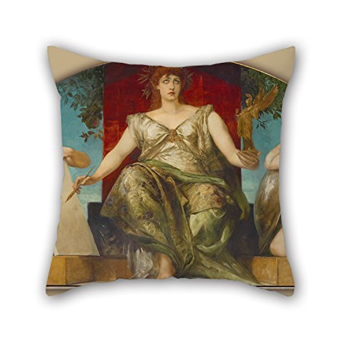 Oil Painting Hans Makart - Allegory Of The Law And Truth Of Representation Pillowcase 20 X 20 Inch / 50 By 50 Cm Gift Or Decor For Office,relatives,festival,husband,kids,indoor - 2 Sides - Leopard Futon