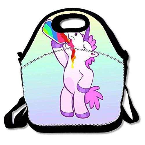 DIY Insulated Lunch Bag, Neoprene Lunch Tote Reusable Picnic Bag Soft Thermal Cooler Tote Multi-purpose Grocery Container - Unicorn Galaxy 1