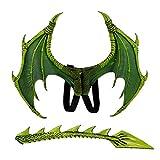 Qlans Kostüm Drachenflügel und Schwanz Halloween Drachenkostüm für Kinder (5-10 Jahre)