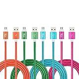 Vlio câble micro USB Lot de 41m 1m tressé en nylon haute vitesse USB vers Micro USB à chargement rapide Câbles Android chargeur plomb pour Android, Samsung, HTC, LG, tablettes, PS4Xbox One