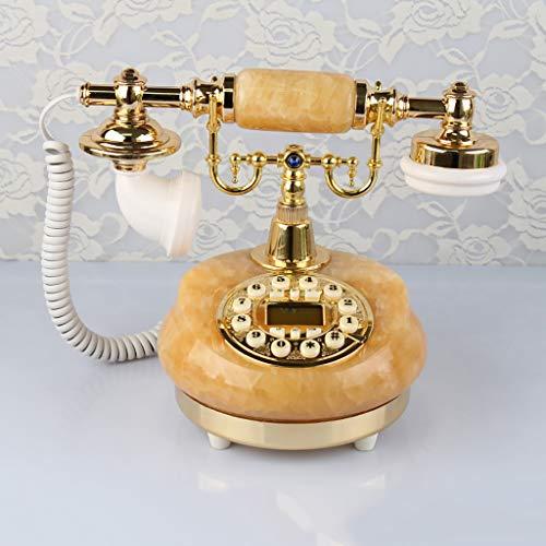 ZYFA Teléfono Fijo Teléfono Antiguo, teléfono Retro Europeo de Jade, teléfono Fijo Creativo. (Color : A)